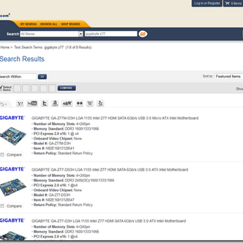 GIGABYTE Z77 motherboards finally available on newegg.com