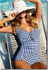 Beach Cafe Blue Swimsuit