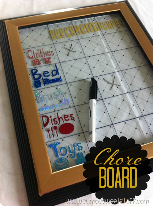 Chore Board - Sumo's Sweet Stuff - Easy system for young children!