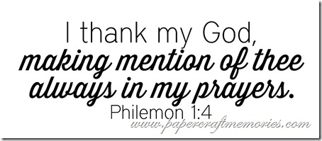 Philemon 1:4 WORDart by Karen for WAW personal use