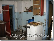 Køkken med adgang til stue og soveværelse