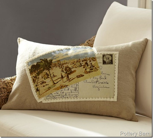 pb postcard pillow