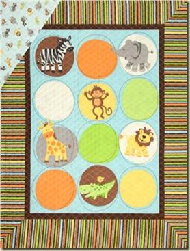 Safari Tots Double-Sided Quilted Panel