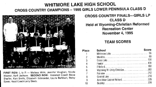 1995 MHSAA LP Girls Class D Team Results