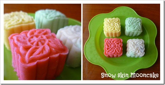 snowskin _mooncake collage