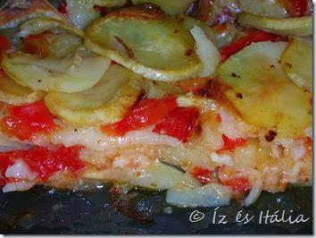 Sformato di patate e peperoni
