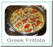 greek frittata button