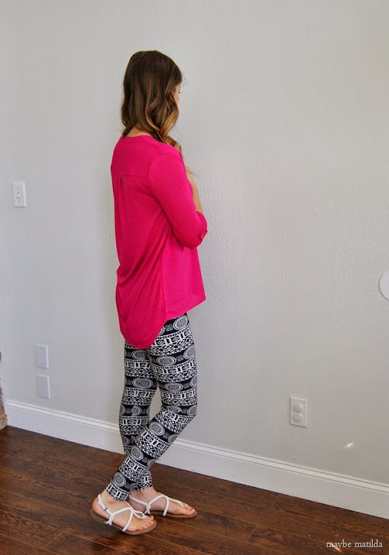 pink top + aztec leggings // www.maybematilda.com