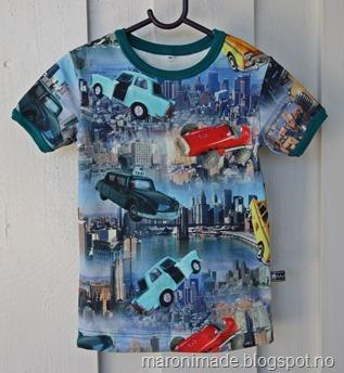 t-skjorte med biler
