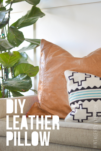 DIY Leather Pillow Tutorial vintagerevivals & DIY Leather Pillow Tutorial \u0026 How To Sew A Zippered Pillow Cover ... pillowsntoast.com