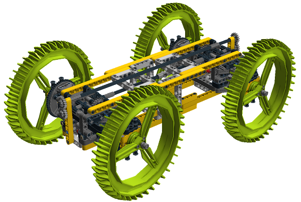 CAD of ExoForce Rover Chassis