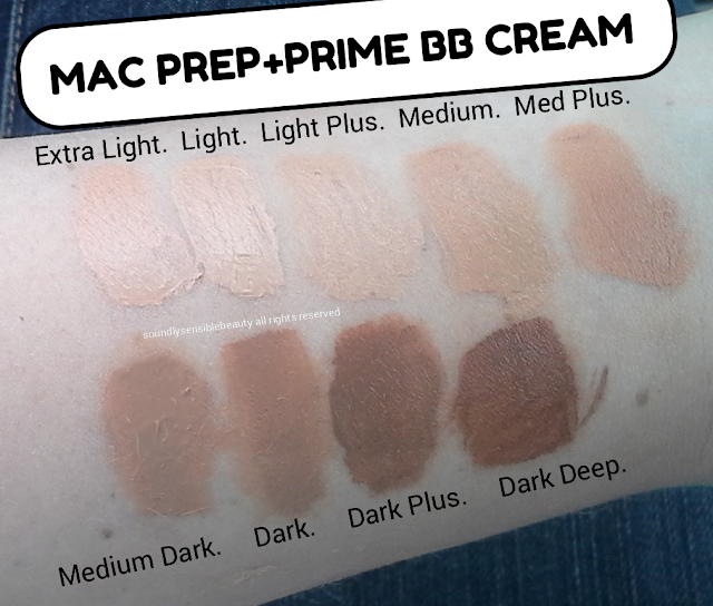 Mac Prep + Prime BB Cream Beauty Balm, SPF 35 Review & Swatches of Shades Extra Light, Light, Light Plus, Medium, Medium Plus, Medium Dark, Dark, Dark Plus, Dark Deep