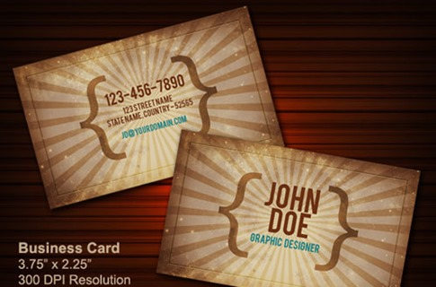 Vintage business card PSD