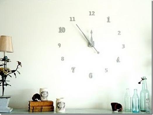 Fabriquer une cool horloge murale - Fabriquer une bibliotheque murale ...