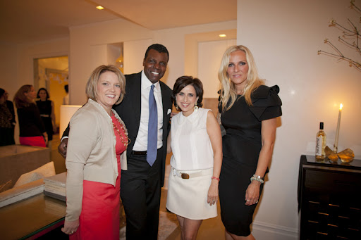 Amy Wilkins, publisher of Weddings, Mark, me, and Keren Craig of Marchesa.