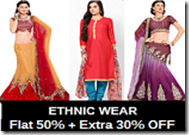 Buy Women Ethnic wear at Minimum 50% + Extra 30% OFF