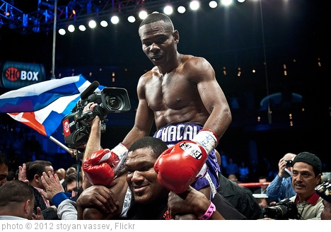 'Guillermo Rigondeaux after the win vs. Rico Ramos 20JAN2012 Las Vegas - Palms Casino' photo (c) 2012, stoyan vassev - license: http://creativecommons.org/licenses/by-sa/2.0/