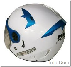 Helm INK Putih Biru
