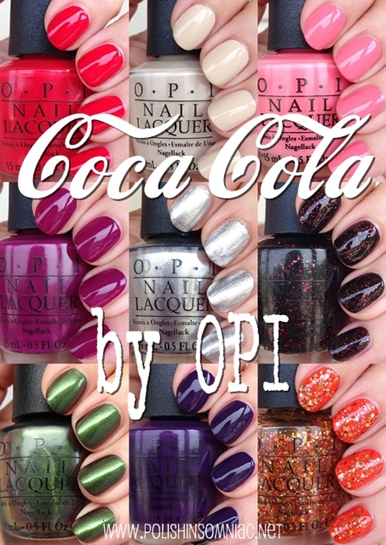 OPI Coca-Cola Collection     Swatches and ReviewOpi Coca Cola