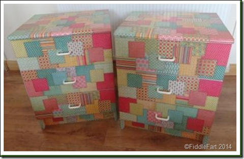 Paper recovered upcycled drawers