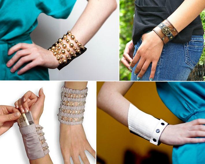 Pulseiras e braceletes com carteira embutida