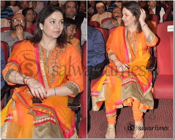 Anjali_Orange_Salwar_Kameez