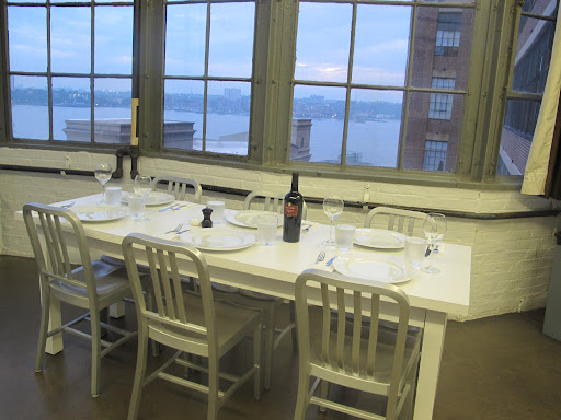 Beautiful table setting in the MSLO test kitchen
