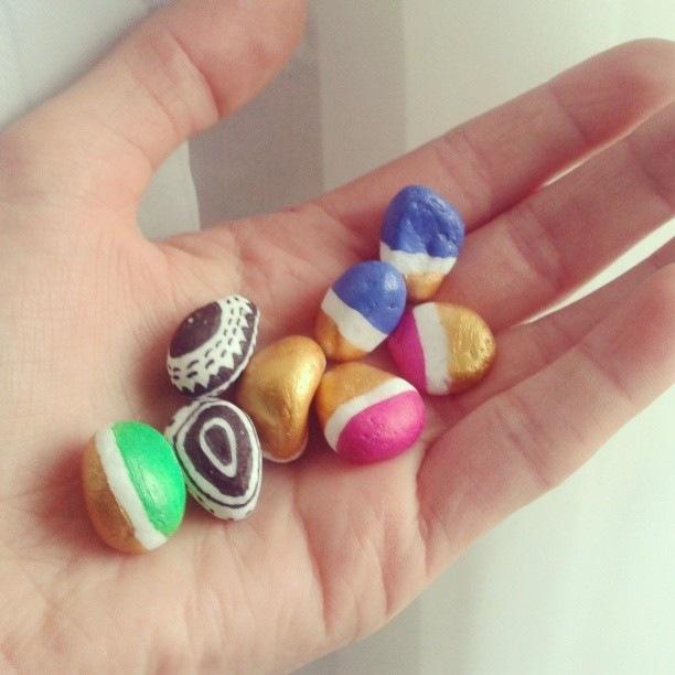 handpainted stones