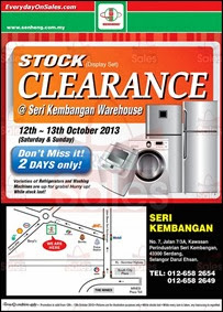 SenHeng Home Electrical Warehouse Sale Clearance Seri Kembangan 2013 Malaysia Deals Offer Shopping EverydayOnSales