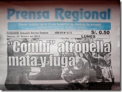 Prensa Newspaper front