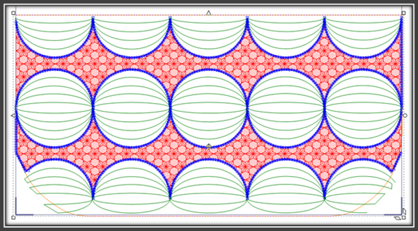Fyllmønsteret tegnet i 5D QuiltDesign Creator