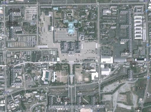天理市の衛星写真