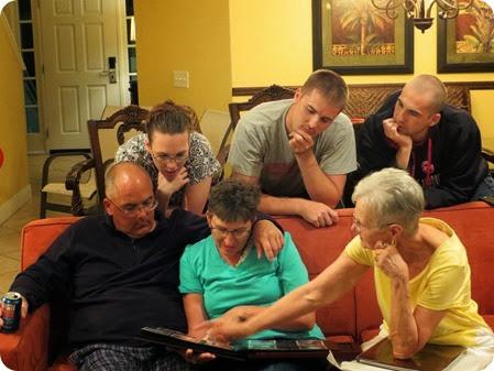 Grams' Photo Album Presentation to Wally