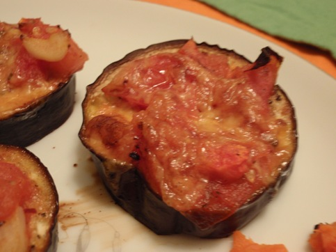 Roasted Eggplant with Tomatoes and Cheese