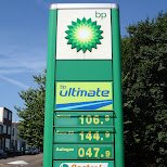 BP gas prices anno 2006 in euros in Santpoort-Noord, Noord Holland, Netherlands