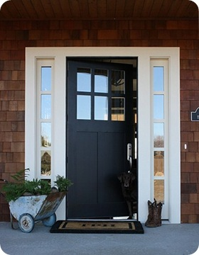 A glass door could you do it from thrifty decor chick - Exterior window tint for homes ...