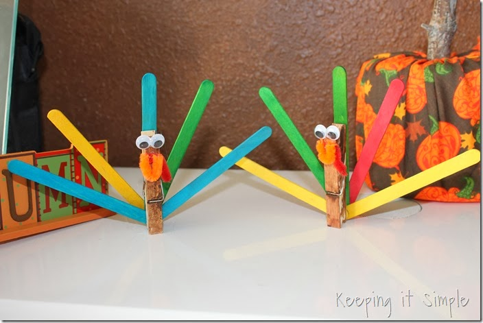 Craft Stick Turkeys (5)