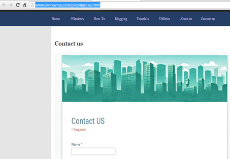 Contact us url