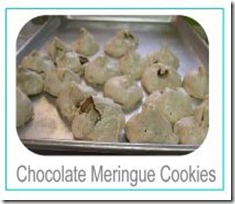 chocolate meringue cookies button