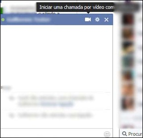 Chamada de Vídeo no chat do Facebook
