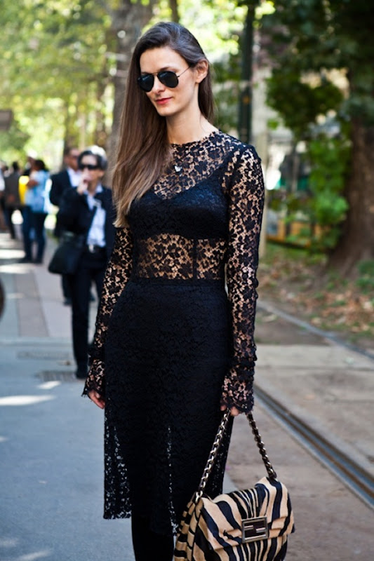 A-LOVE-IS-BLIND-LACE-AND-LINGERIE-1-BLACK-BRA-SEE-THROUGH-DRESS-OVER-AVIATORS-STREET-STYLE-FASHION-WEEK