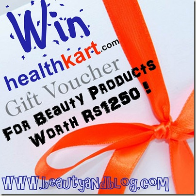 Giveaway Win Beauty Gift Vouchers From HealthKart.com