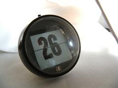 perpetual flip calendar, black and white