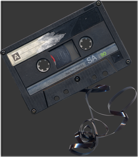 Chewed Cassette Tape