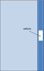 positioning velcro on pillow