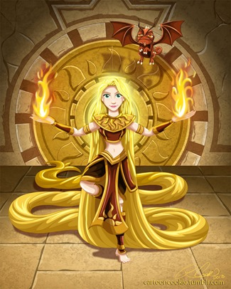Rapunzel of the Ancient Sun Warriors by Racookie3 on DeviantArt