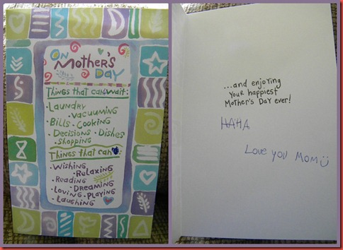 Dylan's Mothers Day Card Collage