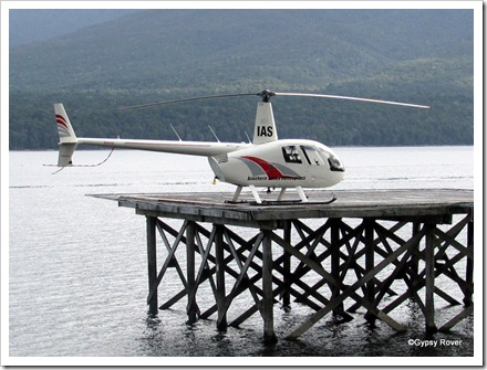 One of many scenic flights available around Lake Te Anau.