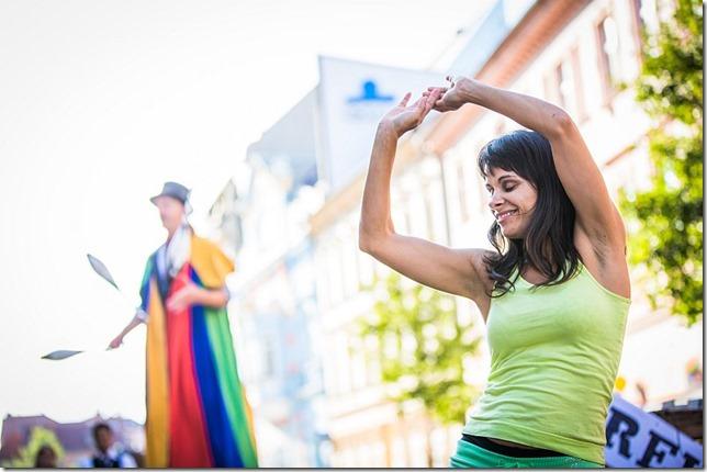 Žonglování a karnevalová samba