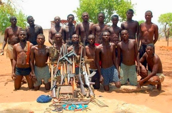 Captured Boko Haram members